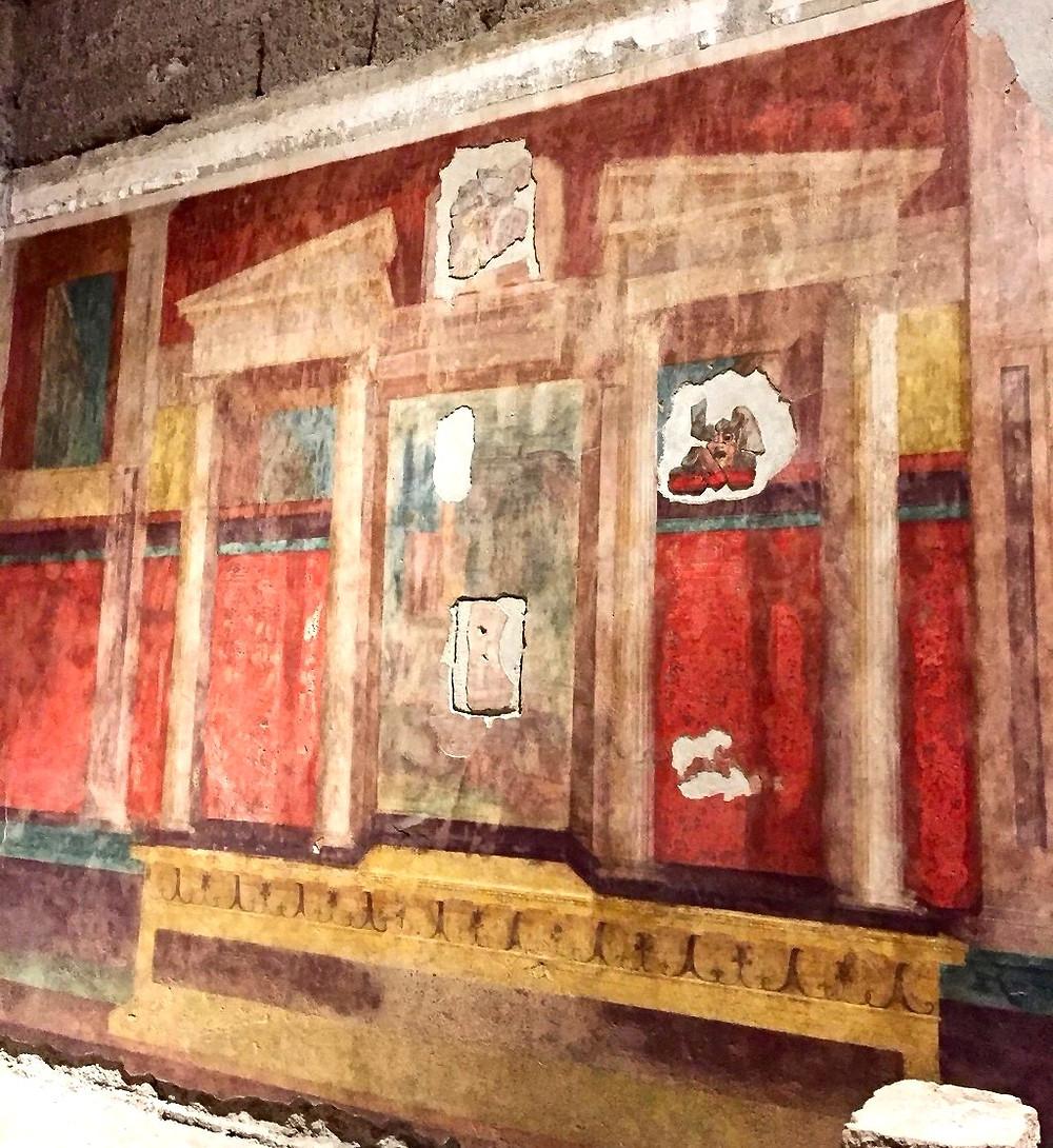 fresco in the Large Oecus room