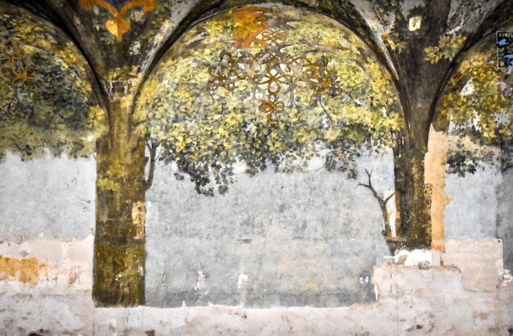 Leonardo frescos in the Salle delle Asse in Milan's Castle Sforza