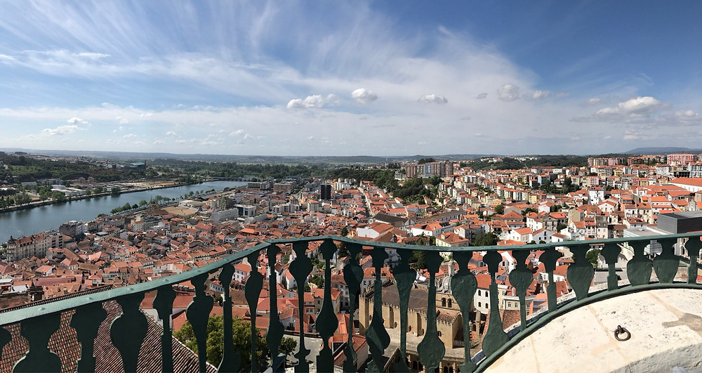 view of Coimbra from the bell tower