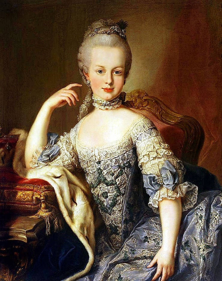 a young Marie Antoinette