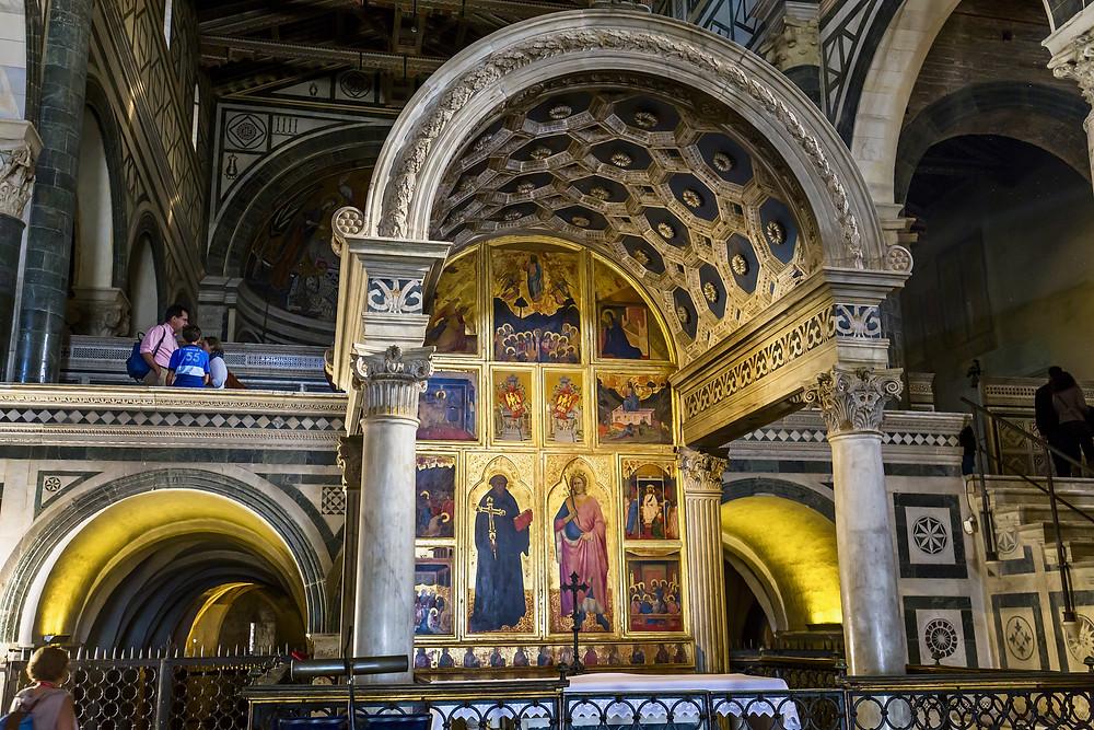 the Michelozzo-designed Chapel of the Crucifix inside San Miniato al Monte