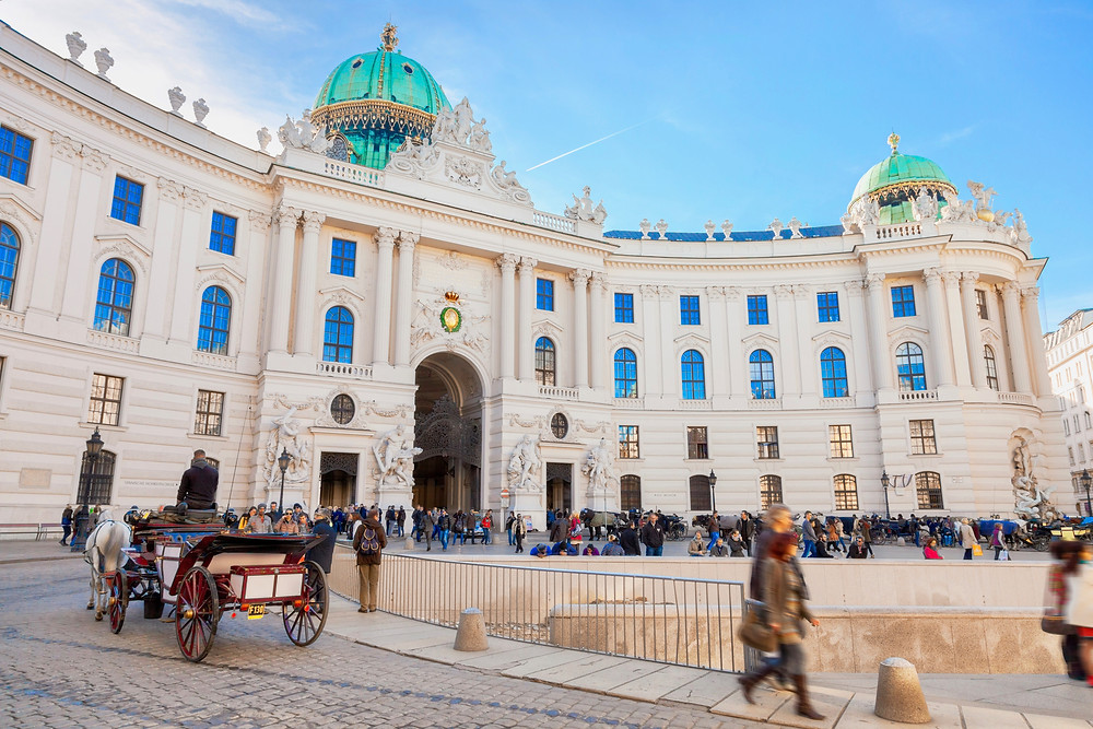 Hofburg Palace and the entry to the Sisi Museum