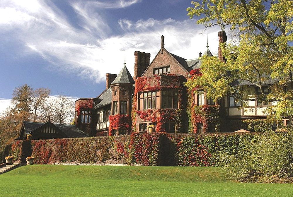the elegant Blantyre hotel, one of 12 remaining Gilded Age mansions in the Berkshires