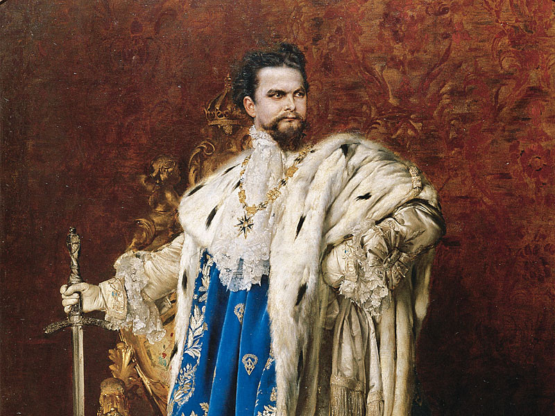 King Ludwig II, Painting by Gabriel Schachinger