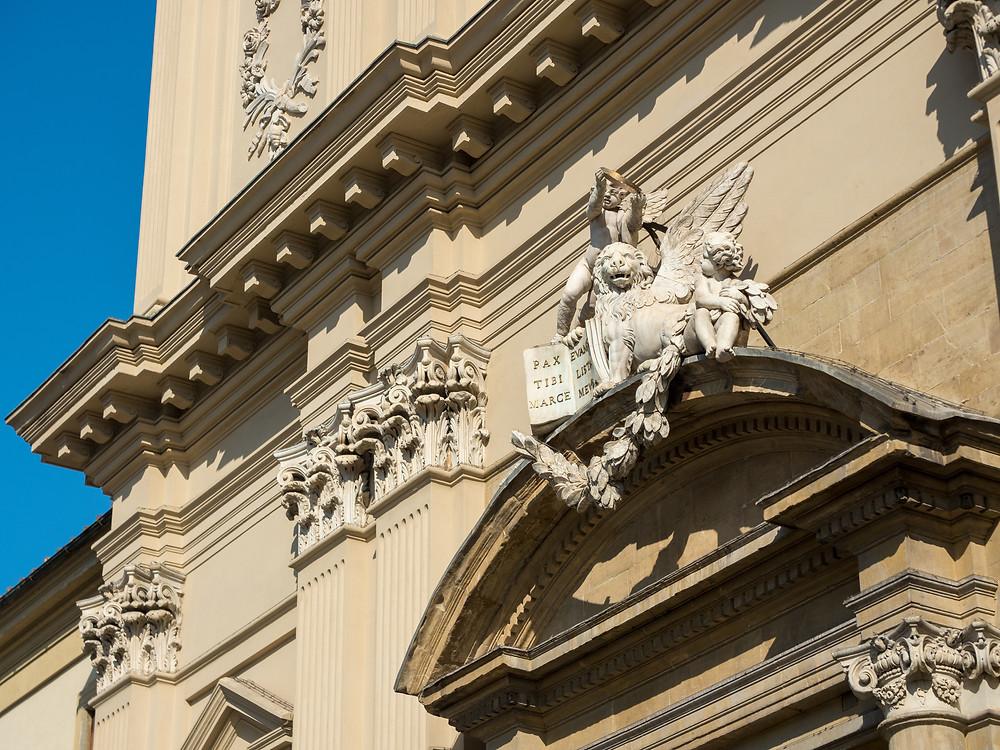detail of the facade of San Marco Monastery