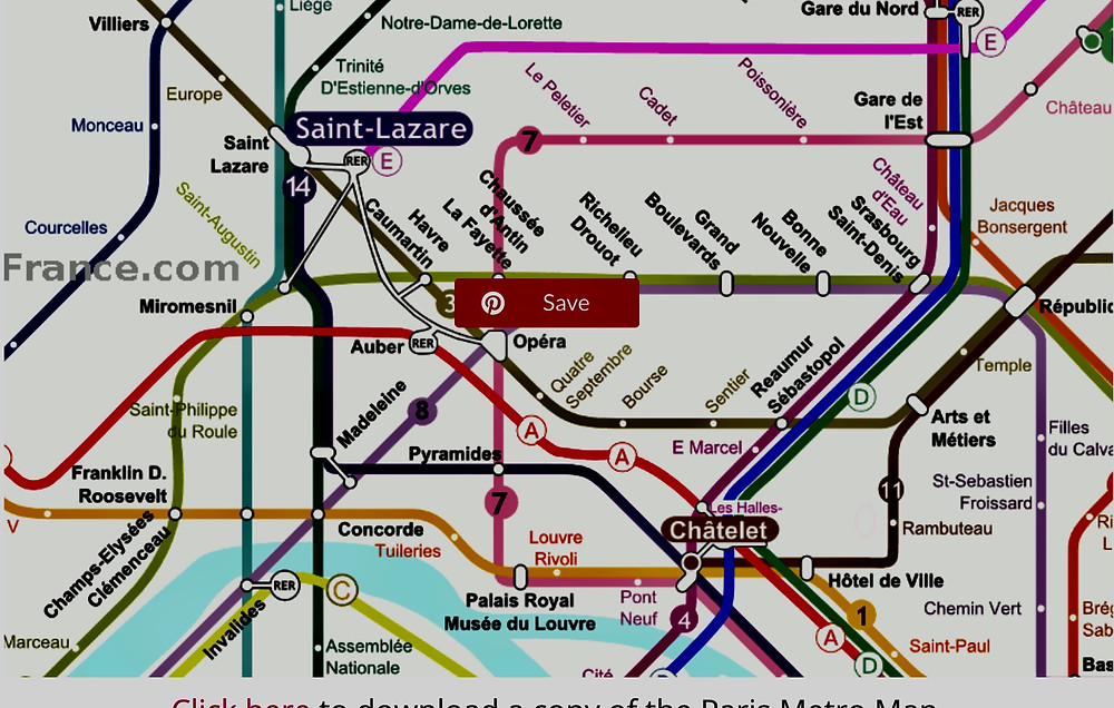 metro lines to the Louvre