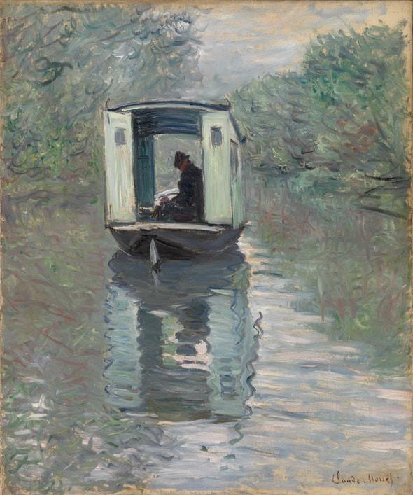 Claude Monet, The Studio Boat (Le Bateau-atelier), 1876