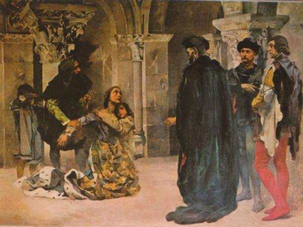 Murder of Inês de Castro. Painting by Columbano Bordalo Pinheiro, ca. 1901/04