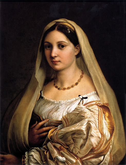 Raphael, Woman With a Veil, 1512-15 -- at the Pitti Palace