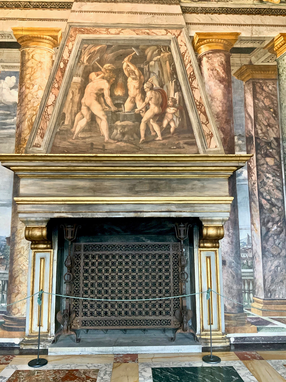 fireplace in the Room of Perspectives