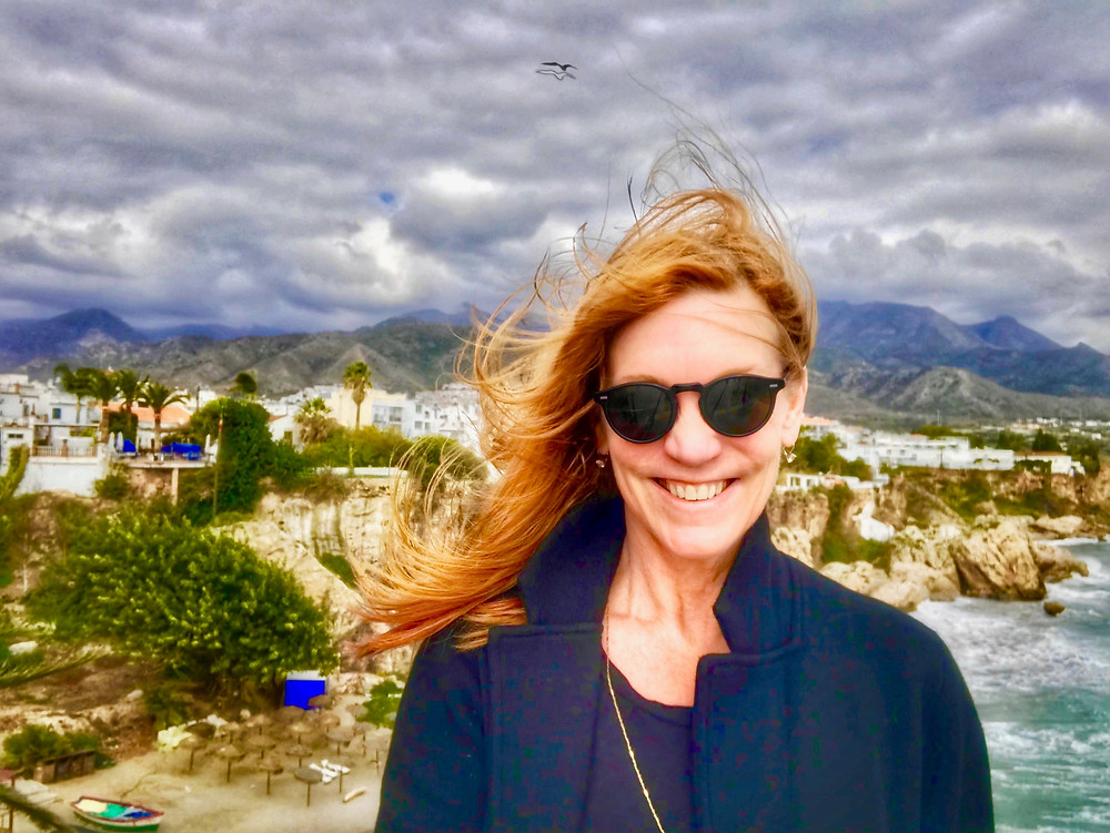 In Nerja, on the windy Balcony of Europe