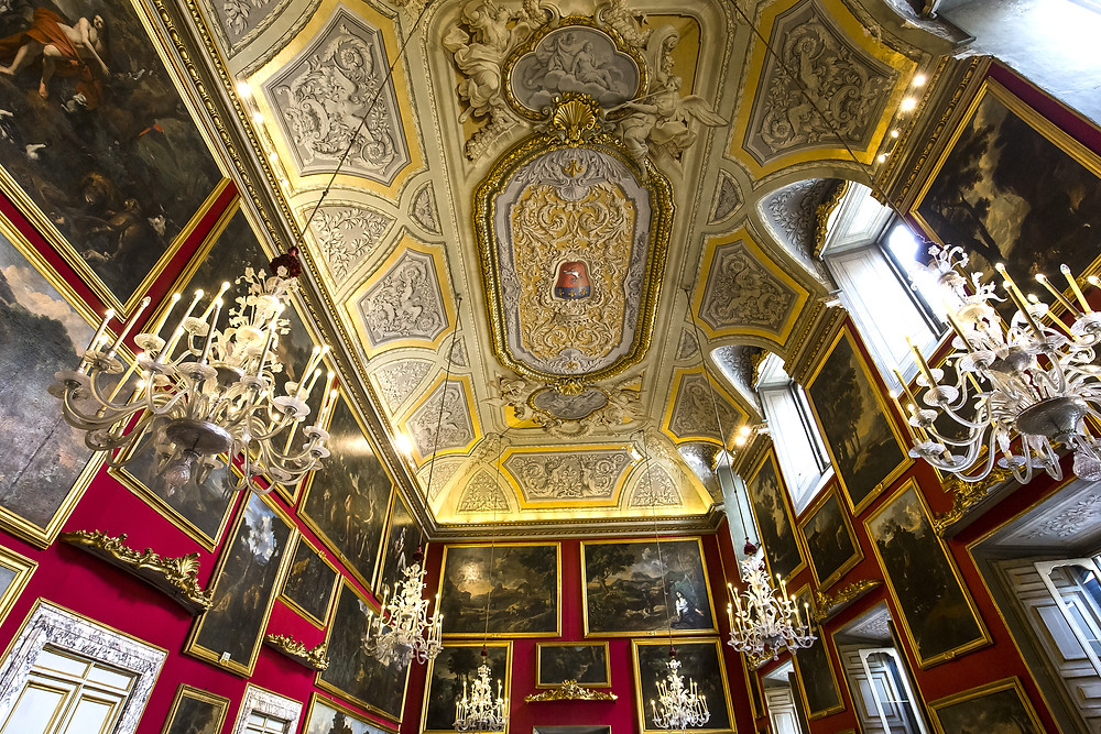 reception hall in the Doria Pamphilj