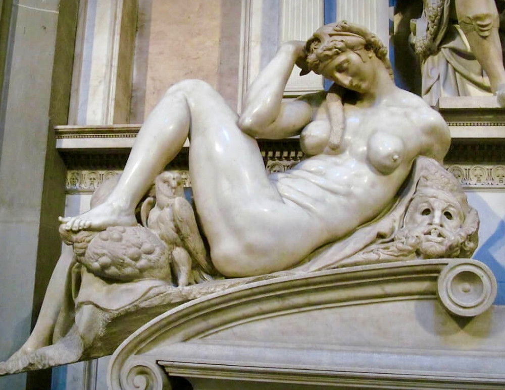 Michelangelo, Night, 1520 -- in the Medici Chapel