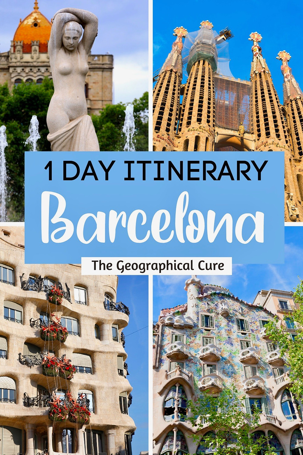 1 Day Itinerary for Barcelona Spain