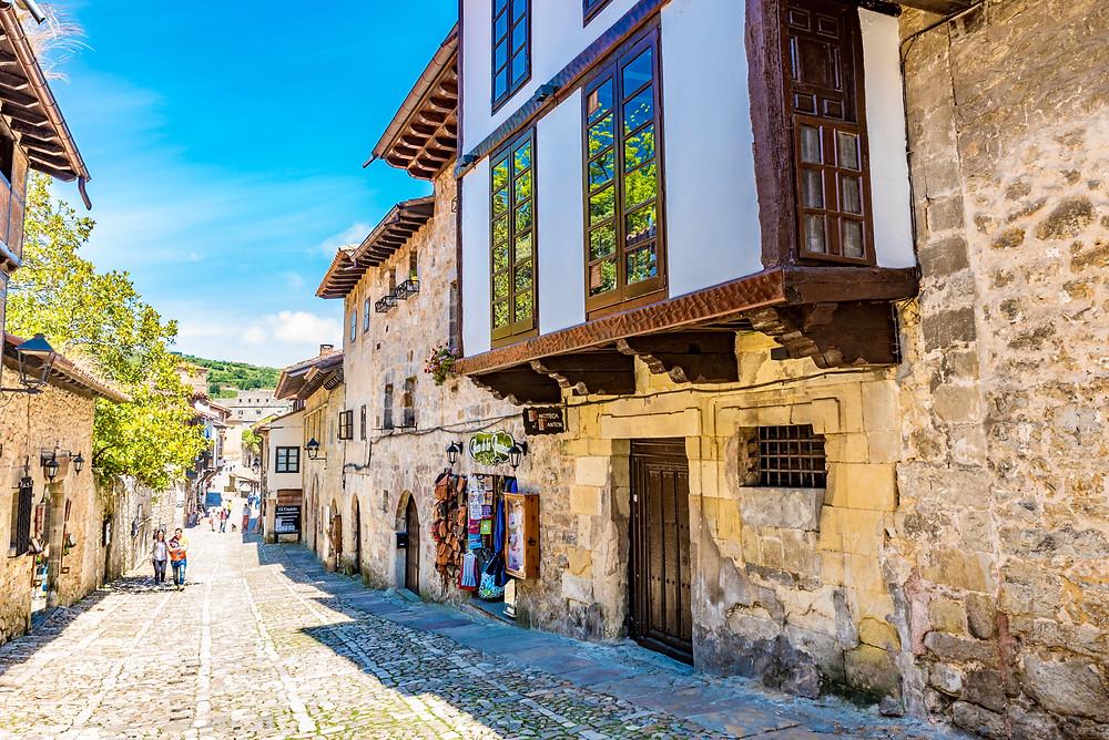 the medieval village of Santillana del mar in Cantabria