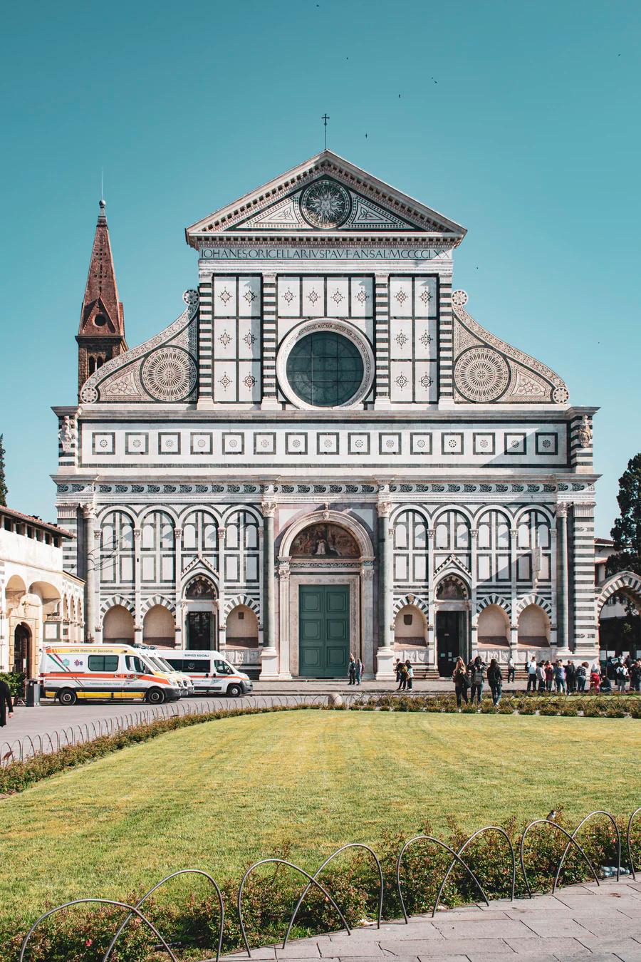 marble facade of Santa Maria Novella