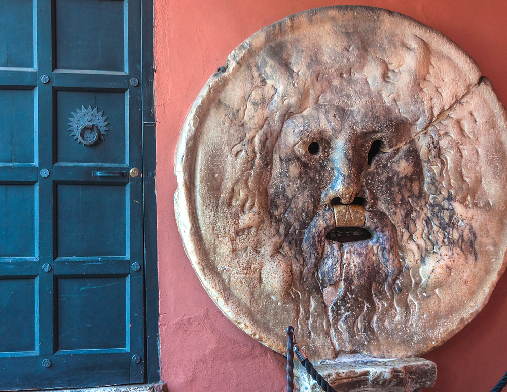 the Mouth of Truth -- sculpture, drain cover, or fountain decoration?