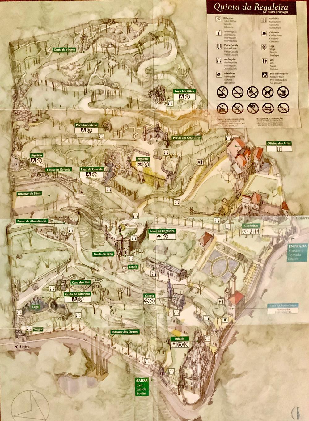 map of Quinta da Regaleira