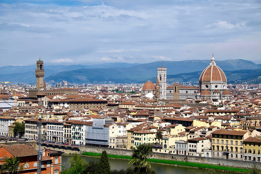 view from the Piazzale Michelangelo in Florence