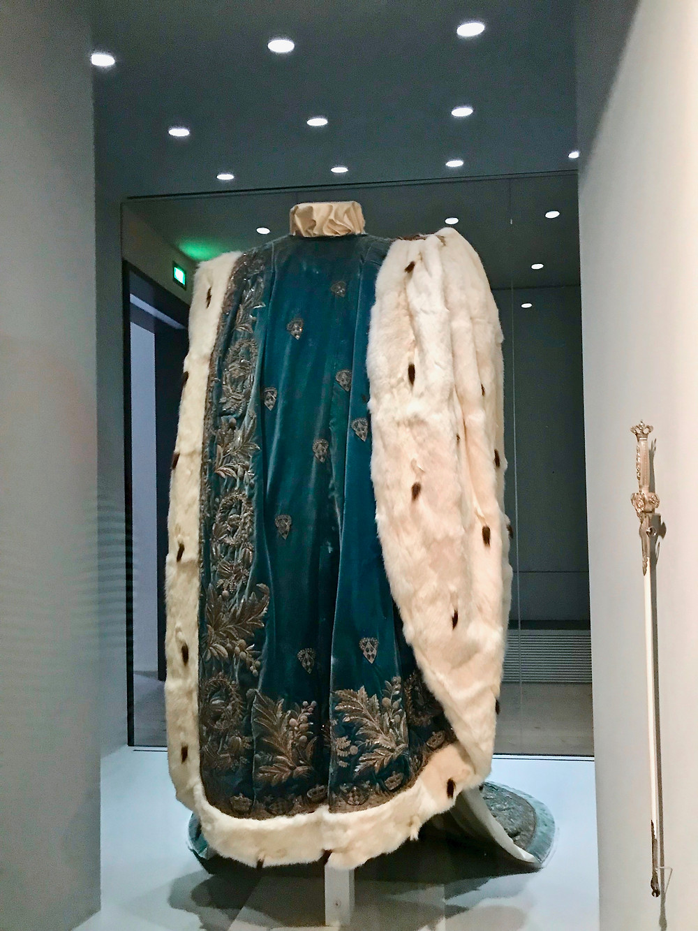Wittlesbach coronation robes in the Museum of the Bavarian Kings