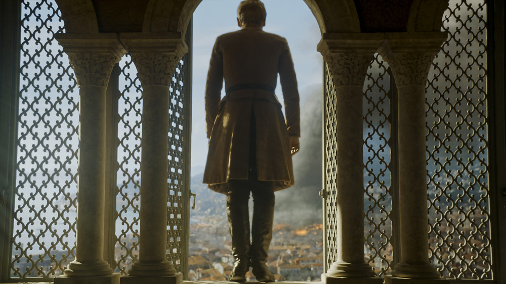 Tommen leaps to his death after the explosion
