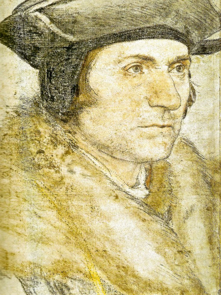 Hans Holbein, Sir Thomas More, 1527, at Windsor Castle