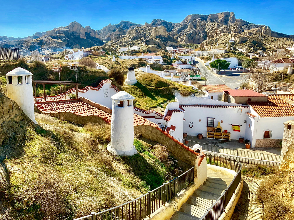 the town of Guadix with its cave dwellings