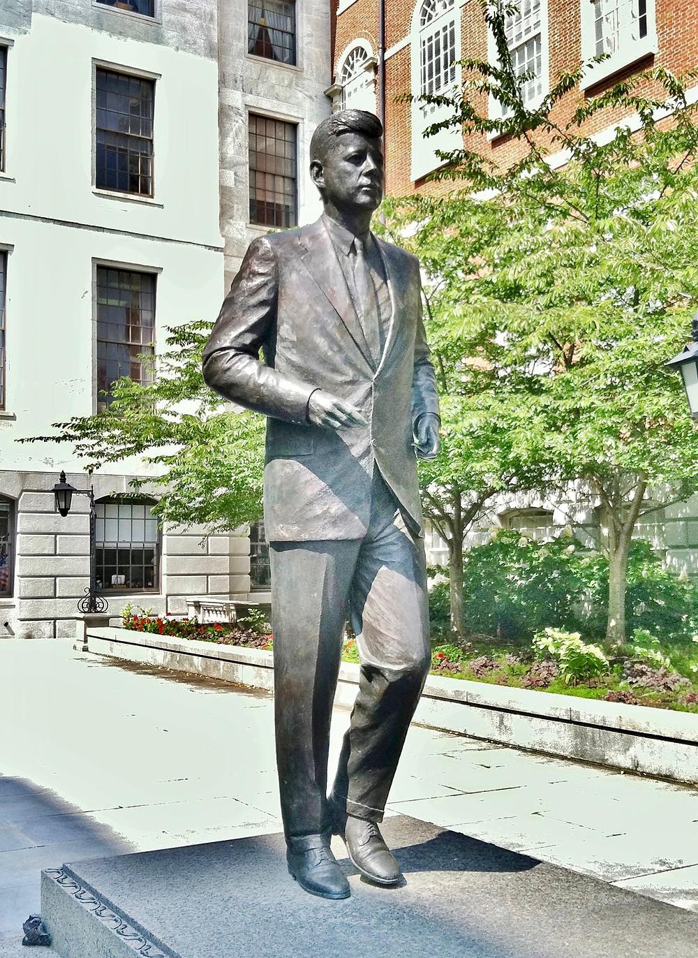 JFK statue by Isabel McIlvan, 1990