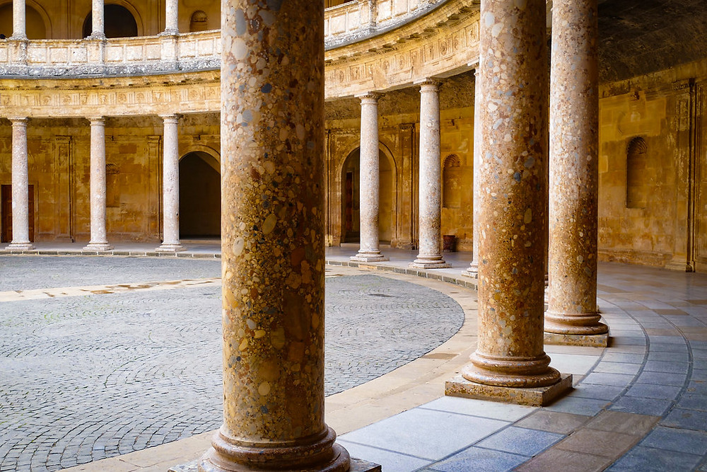 columns in the Charles V Palace