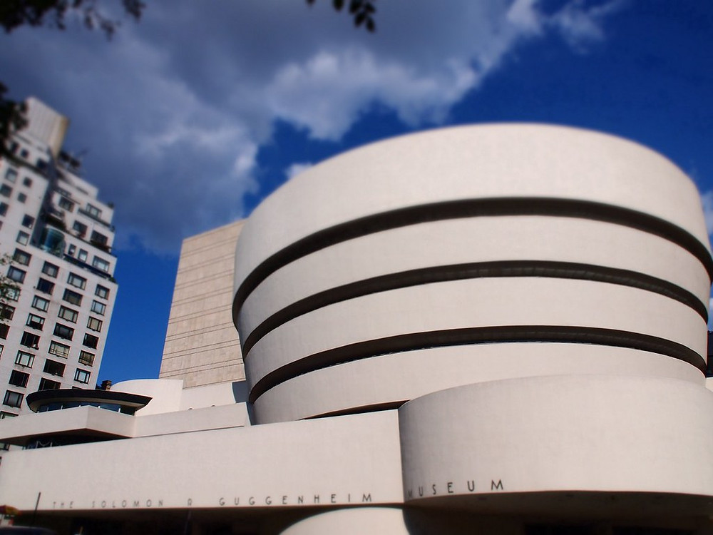 The Guggenheim Museum in New York City. The corkscrew design looks pretty, but isn't great for displaying modern art.