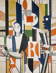 Fernand Leger, Men in the City, 1919 -- bought by Guggenheim for $1,000 before fleeing to New York