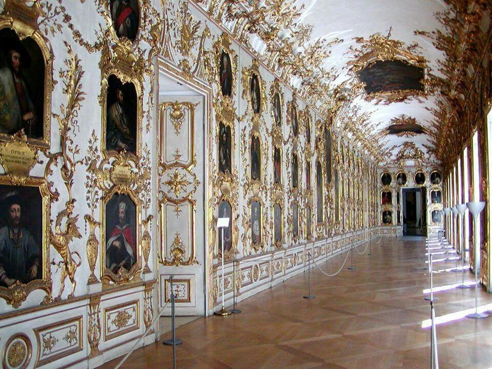 gilded hallway in the Wurzburg Residence