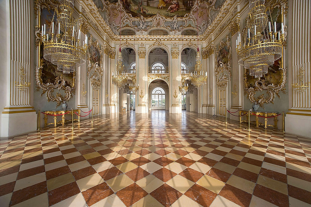 the great Stone Hall of Nymphenburg Palace