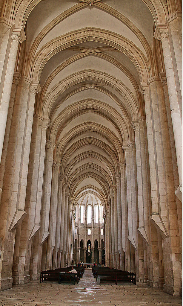 the imposing but still airy nave