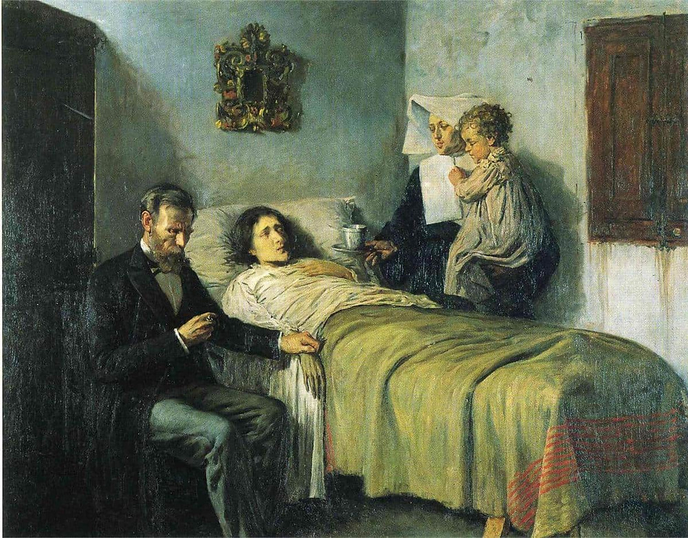 Pablo Picasso, Science and Charity, 1897 -- Picasso painted it when he was only 16