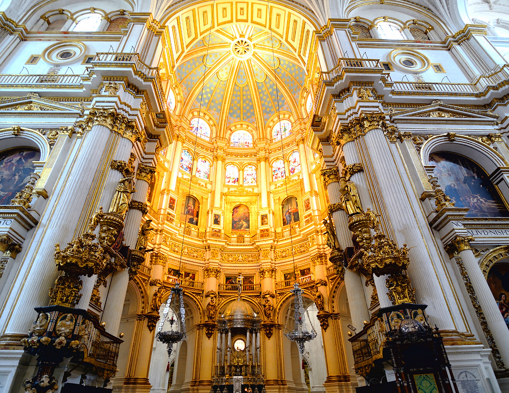 interior of Granada Cathedral