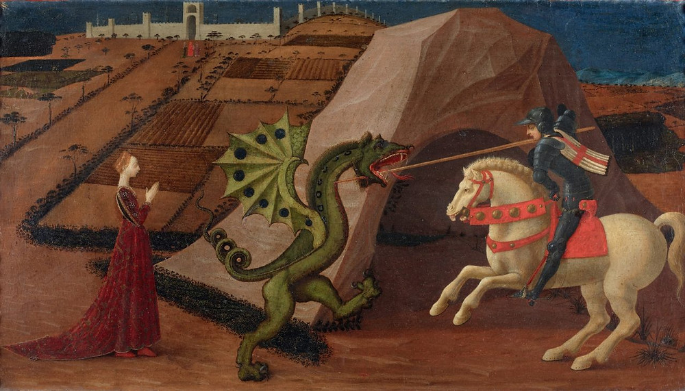 Paolo Uccello, St George and the Dragon, 1430-1435, Musee Jacquemart-Andre