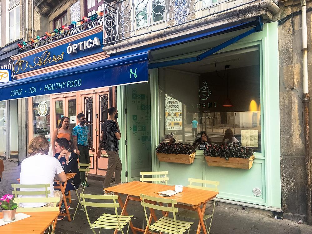 the hip and healthy Porto cafe, Noshi Coffee