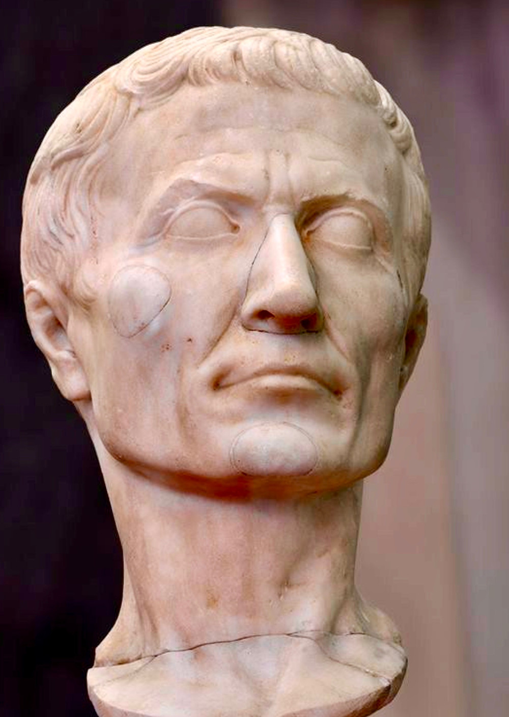 marble bust of Julius Caesar from 30-20 BC, a highlight of Pisa's Duomo Museum