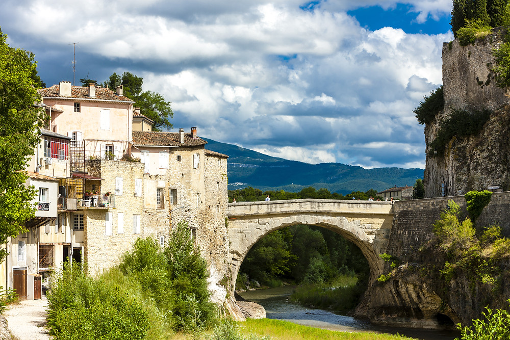 the town of Vaison-la-Romaine in southern France