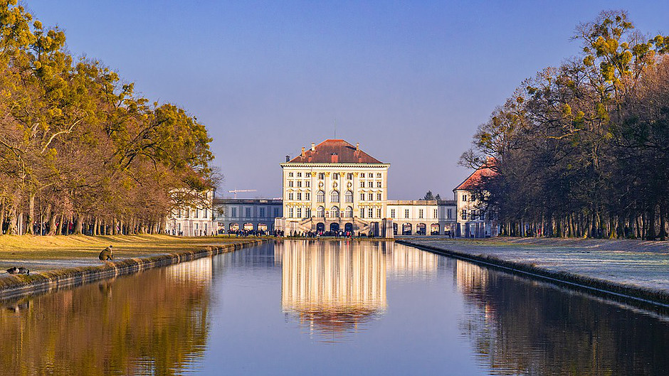 the 17th century Schloss Nymphenburg outside Munich Germany