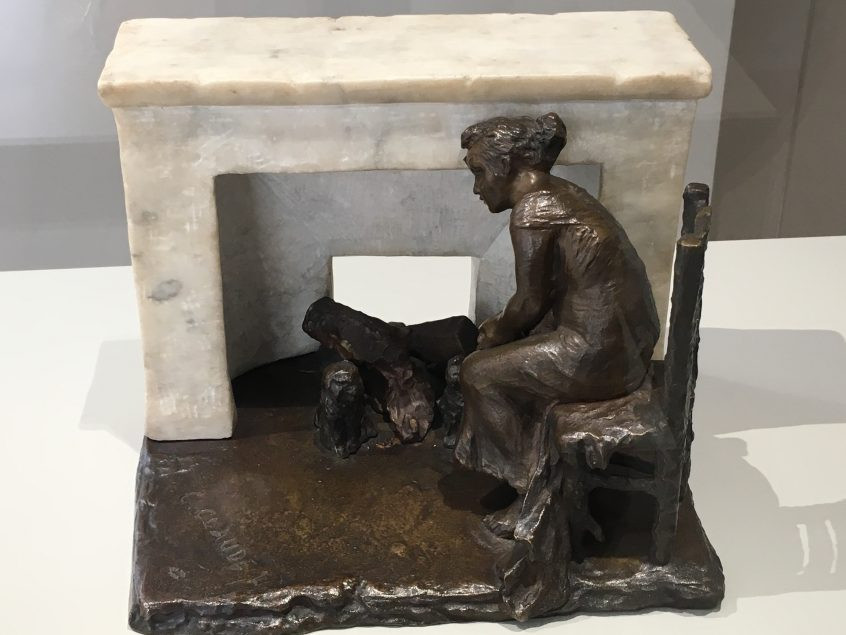 Camille Claudel, Deep Thought, 1898 -- a despondent woman possibly looking at the ashes of her life