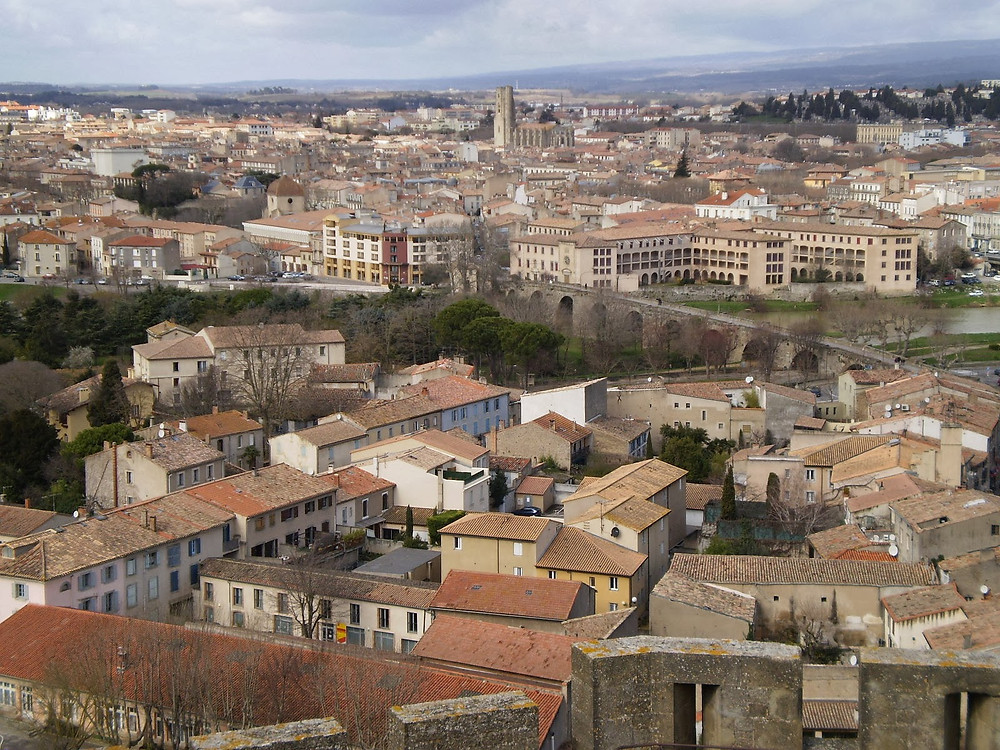 Bastide St-Louis, the lower city of Carcassonne France