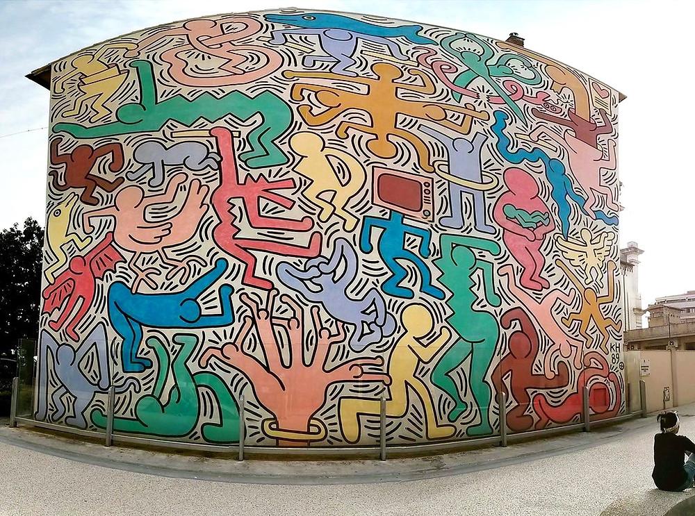 Keith Haring's last mural, Tuttomondo