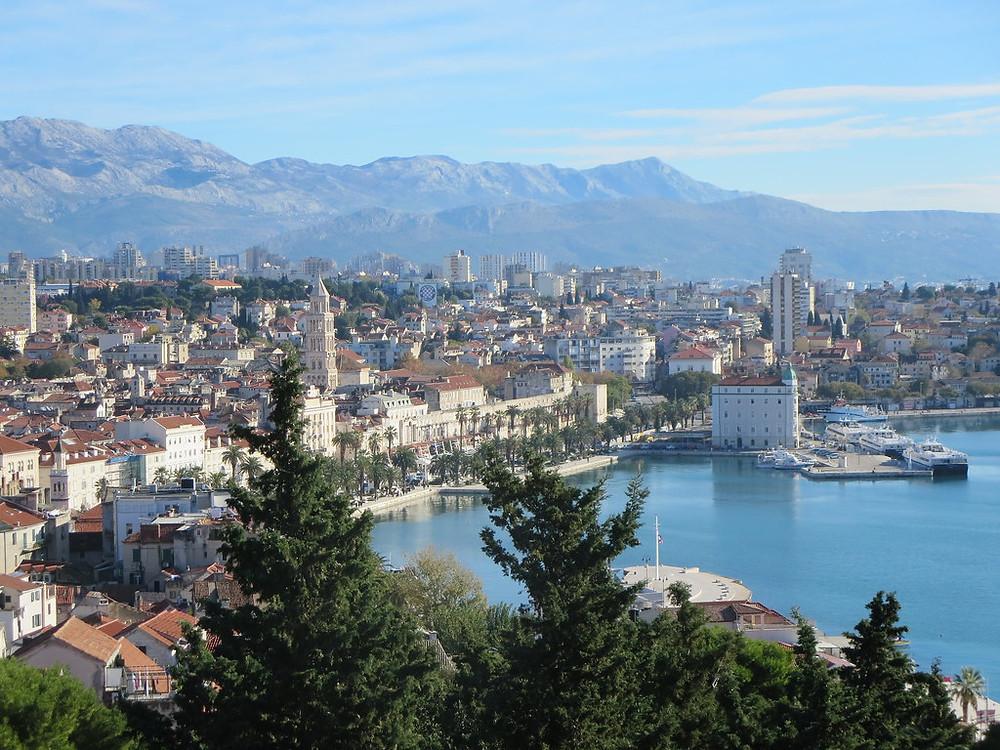view of Split from Marjan Hill