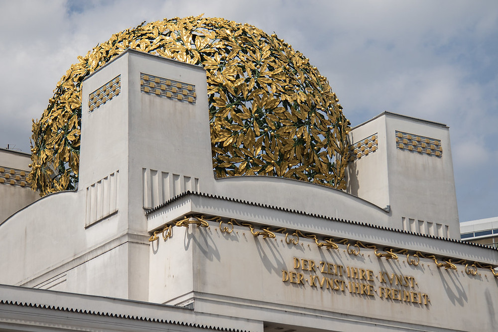 the golden dome of the Vienna Secession building