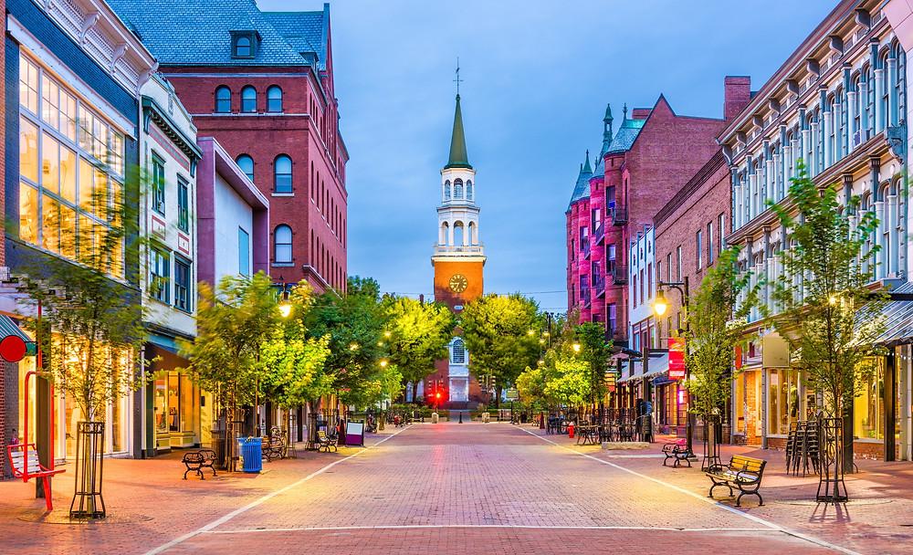 Church Street Marketplace in Burlington Vermont