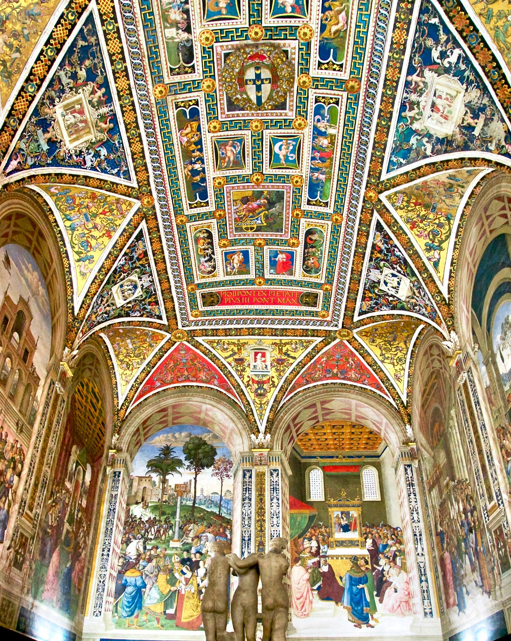 frescos in the Piccolomini Library inside Siena Cathedral