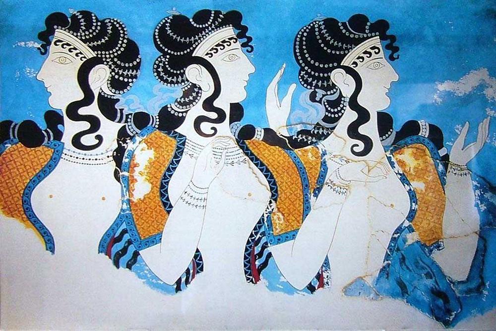 the Ladies in Blue fresco
