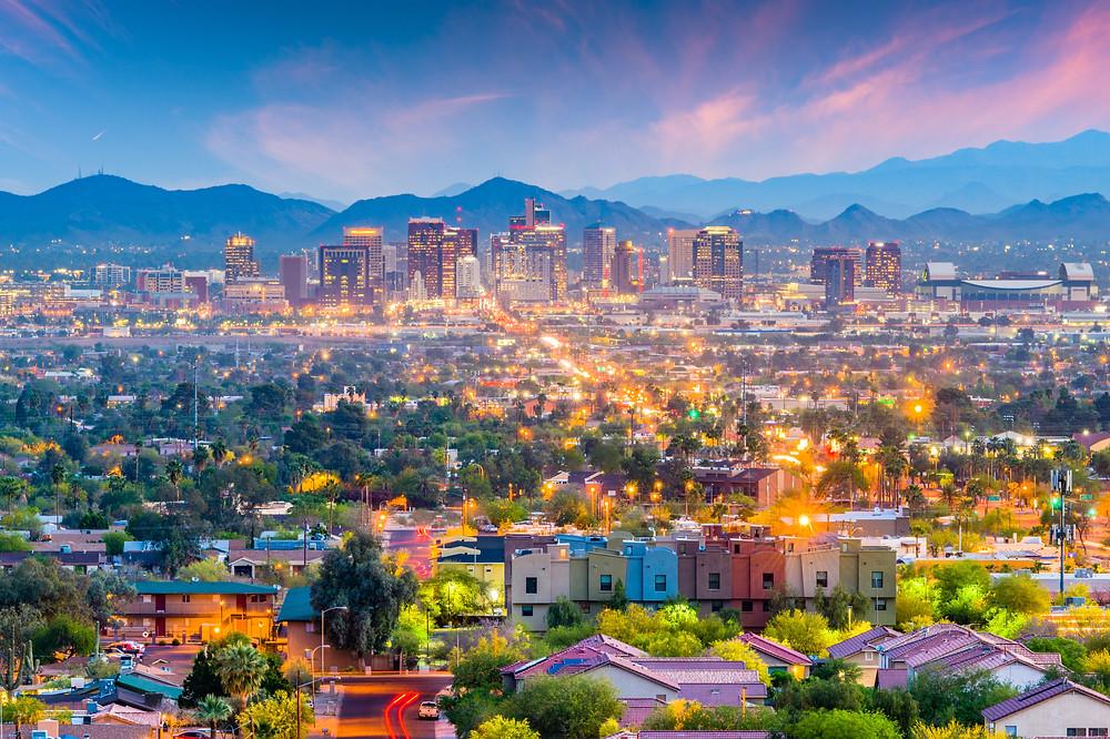 Phoenix cityscape at dusk